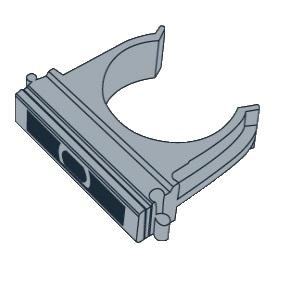 Крепеж для труб 40мм (клипса)