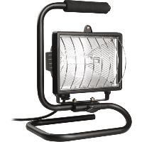Прожектор галогенный 500W переноска IP54 черный