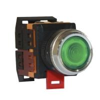 Кнопка с подсветкой зеленая ABLFS-22 (пластик)