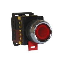 Кнопка с подсветкой красная ABLFS-22 (пластик)