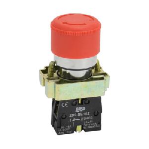 Кнопка Грибок с фиксацией красный LAY5-ВS442 (пластик)
