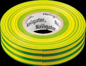 Изолента ПВХ 15мм желто/зеленая (рул 20м) Navigator