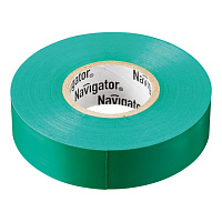 Изолента ПВХ 15мм зеленая (рул 20м) Navigator