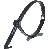 Хомут 3,6х200 черный (уп.100шт) (стяжка)