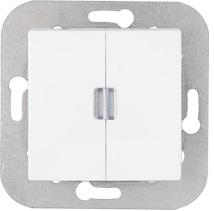 Уют (Белтиз) Выключатель 2-кл. с подсветкой (C5 10-557) СП