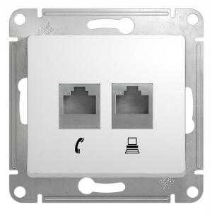 Уют (Белтиз) Розетка компьютерная+телефонная (ТРК-002) СП