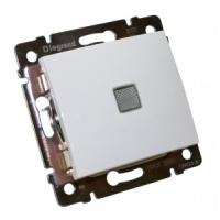 Валена (Легранд) Выключатель 1-кл. с подсветкой белый СП (механизм)