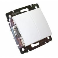 Валена (Легранд) Выключатель 2-кл. белый СП (механизм)