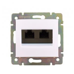 Валена (Легранд) Розетка компьютерная 2-м. белый СП (механизм)