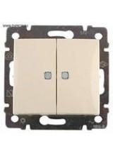 Валена (Легранд) Выключатель 2-кл. с подсветкой сл. кость СП (механизм)
