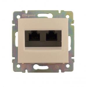 Валена (Легранд) Розетка компьютерная 2-м. сл. кость СП (механизм)