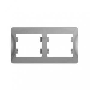 Глосса (Шнайдер) Рамка 2-м. алюминий