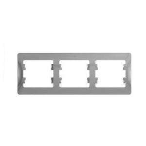 Глосса (Шнайдер) Рамка 3-м. алюминий