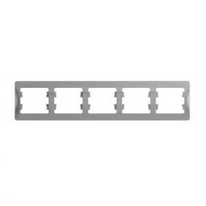 Глосса (Шнайдер) Рамка 5-м. алюминий