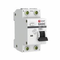 Автомат дифференциальный 2Р 10А 30мА EKF (диф)
