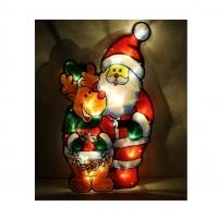 Гирлянда светодиодная Панно Дед Мороз и олень 1 режим