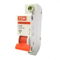 Выключатель автоматический 1Р 25А TDM
