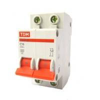 Выключатель автоматический 2Р 16А TDM