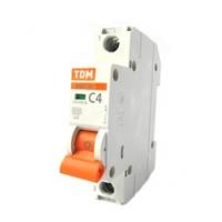 Выключатель автоматический 1Р 04А TDM