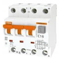 Автомат дифференциальный 4P 40А 30мА TDM