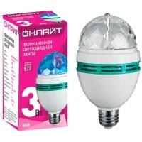 Лампа светодиодная DISCO (Диско) RGB 3W E27