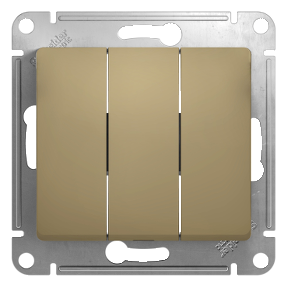 Глосса (Шнайдер) Выключатель 3-кл. титан СП (механизм)