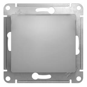 Глосса (Шнайдер) Выключатель 1-кл. перекрестный алюминий СП (механизм)