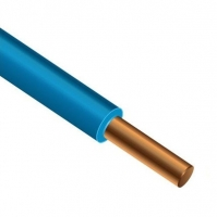 Провод ПВ 1-6,0 синий ГОСТ медный монолитный