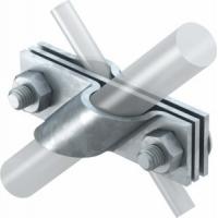Клемма для крестового соединения стержня, проволоки и полосы, оцинкованная