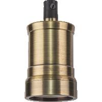 Патрон подвесной Е27 V02 декоративный черненая бронза