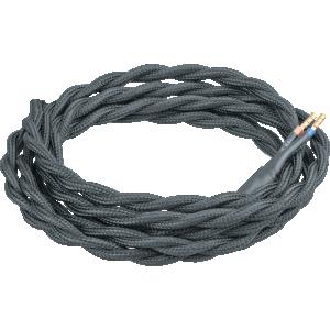 Провод декоративный Винтаж витой 2 х 0,75 1,5м черный