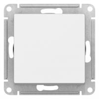 Атлас Дизайн (Шнайдер) Выключатель 1-кл. проходной белый СП (механизм)
