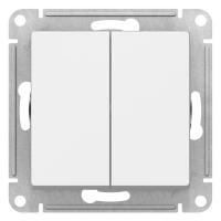 Атлас Дизайн (Шнайдер) Выключатель 2-кл. белый СП (механизм)