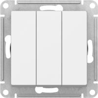 Атлас Дизайн (Шнайдер) Выключатель 3-кл. белый СП (механизм)