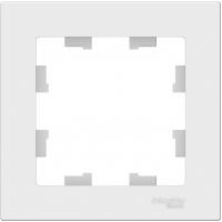 Атлас Дизайн (Шнайдер) Рамка <nobr>1-м</nobr>. белый