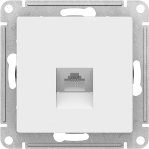 Атлас Дизайн (Шнайдер) Розетка компьютерная белый СП (механизм)