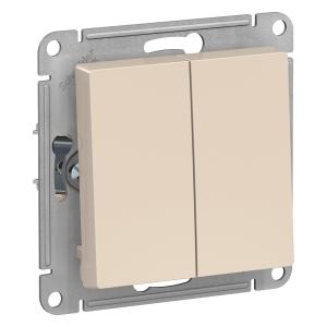 Атлас Дизайн (Шнайдер) Выключатель 2-кл. бежевый СП (механизм)