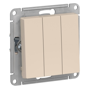 Атлас Дизайн (Шнайдер) Выключатель 3-кл. бежевый СП (механизм)