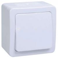 Кнопка звонка белая IP54 IEK
