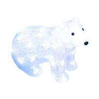 Гирлянда светодиодная Фигура Белый медведь 310х150х250 мм 40LED бел. 2.5W IP20