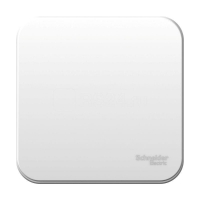 Бланка (Шнайдер) Выключатель 1-кл. белый ОП