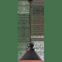 Светильник подвесной черный LOFT 1x60W E27 VESTA