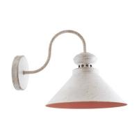 Светильник настенный бело-золотой LOFT 1x40W E14 VESTA