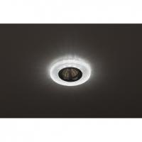 Светильник галогенный с подсветкой DK LD1 WH прозрачный