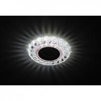 Светильник галогенный с подсветкой DK LD18 SL PK/WH прозрачный розовый