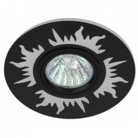 Светильник галогенный с подсветкой DK LD30 BK черный