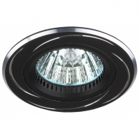 Светильник галогенный KL34 AL/BK черный/хром