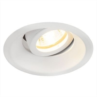 Светильник галогенный (круг) 6068 MR16 WH белый