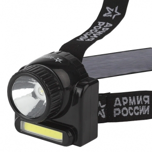 Фонарь налобный светодиодный аккум. (3W COB+3W 176Lm, аккум, 220V) ЭРА