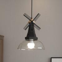 Люстра потолочная  Астерия Мельница (черный) 1хЕ27 Home Light